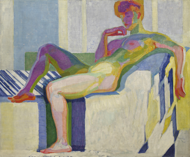 František Kupka: Planes by Colours, Large Nude (1909–1910). Изображение © The Solomon R. Guggenheim Foundation / Art Resource, NY, Dist. RMN-Grand Palais