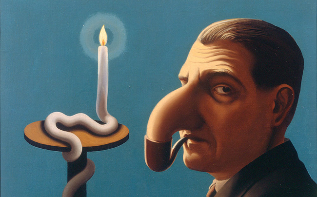 Rene Magritte: Philosopher's lamp (1936)