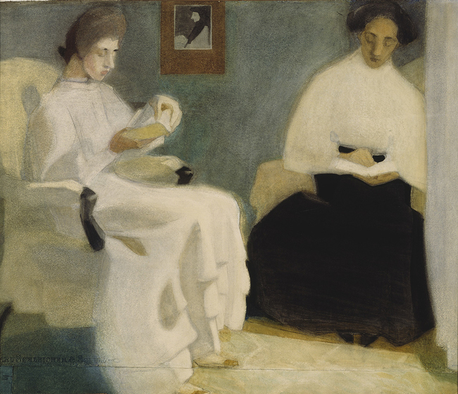 Helene Schjerfbeck: Girls Reading (1907). Finnish National Gallery / Ateneum Art Museum. Фото © Finnish National Gallery / Hannu Aaltonen